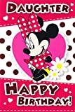Minnie Mouse Birthday Card - Daughter