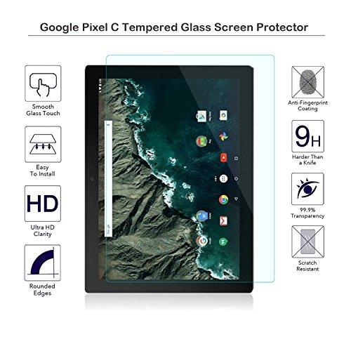 fiimi Google Pixel C Zoll gehärtetem Glas Displayschutzfolie, 9H Härte, 0,3mm Dicke, aus echtem Glas, bruchsicher