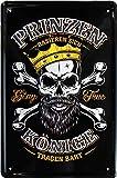 Prinzen rasieren Sich - Könige tragen Bart 20x30 witziges Deko Blechschild 345
