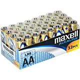 Maxell LR6 Alkaline Battery AA Pack of 32