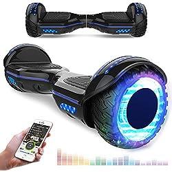 """RCB Gyropode 6,5"""" et Scooter Electrique Auto-équilibré avec LED Scooter Intelligent avec Bluetooth Moteur Puissant 2 * 350W pour Enfants und Adultes Cadeau pour Noël"""