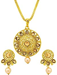 Lovely Pendant Set With Gold Plating