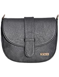 Bern Grey Color Stylish PU Sling Bag For Women