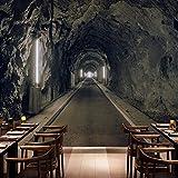 Amazhen Wallpaper 3D Stereo Benutzerdefinierte Wandbilder Magnificent Tunnel Entertainment Restaurant Kulisse Wandtapete,350cm*260cm