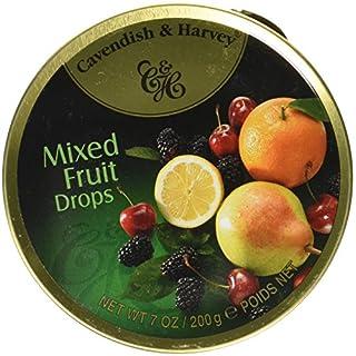 Cavendish & Harvey Travel Tin Mixed Fruit Drops 200 g (Pack of 9)