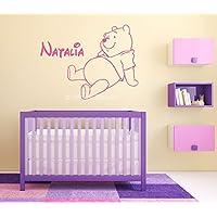 Winnie the Pooh Bambini Personalizzate Nome Arte Muraria Murale Etichetta Sticker