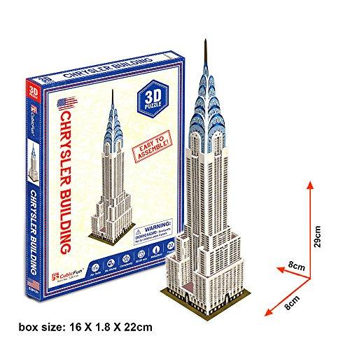 Georgie Porgy Rompecabezas 3D Puzzle Building Juguetes de los niños Arquitectura Famosa del Mundo (Edificio Chrysler 22 Piezas)