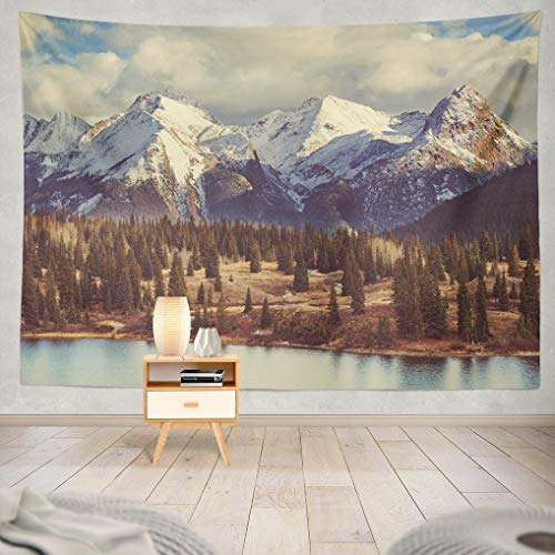rbstkürbis-Wandteppich, 152,4 x 203,2 cm, Wanddekoration für Schlafzimmer, Wohnzimmer, Wohnzimmer, Wohnheim, Polyester-Mischgewebe, Color 3, 60