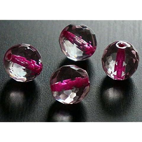 Sfaccettata Rosa Chiaro di Cristallo Tondo di Grandi dimensioni ceca Perle di Vetro Rosa Trasparente (Perline Di Cristallo Di Sfaccettatura)