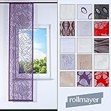 Rollmayer SCHIEBEVORHANG Muster FLACHENVORHANG SCHIEBEPANEL SCHIEBEGARDINE RAUMTEILER - Länge 150-200cm (3902, Klettband)