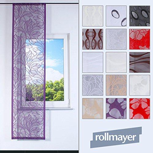 Rollmayer SCHIEBEVORHANG Muster FLACHENVORHANG SCHIEBEPANEL SCHIEBEGARDINE RAUMTEILER - Länge 200-250cm (Welle 1 / Weiß, Faltenband) -