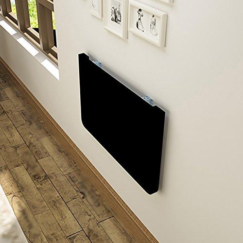 Wandbehang Klapptische Schwarz Massivholz Esstische Wand-Computertische Eisen Schreibtisch (größe : 80*50cm)