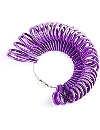 Royaume-Uni Taille de la bague Outil de mesure, Lanveni doigt des tailles Plastique Cercle pièces Kit de bijoux Calibre appareil Anneaux diamètres