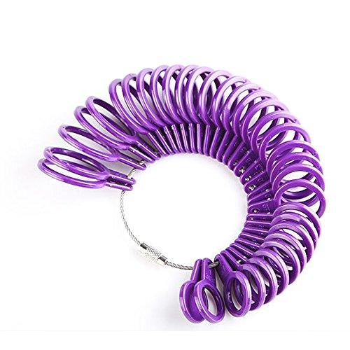UK Ring Größe Mess-Werkzeug, Lanveni Finger Größe Kunststoff Kreis Stück Gauge Schmuck Kit Gerät Ringe Durchmesser
