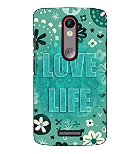 Fuson Designer Back Case Cover for Motorola Moto X Force :: Motorola Moto X Force Dual SIM (Love life theme)