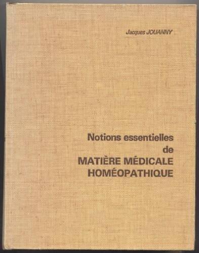 Notions essentielles de matire mdicale homopathique