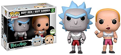 Funko POP Animación Rick y Morty 2pk Vinilo Buff Rick / Buff Summer (