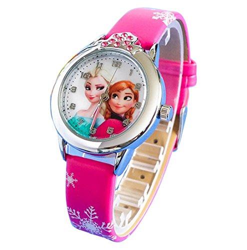 Disney Frozen children kids cartoon Watches leather Watch WP@KTWBS001M