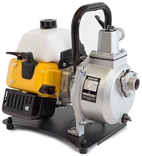 ✦ WASPPER PC108 ✦ Hochleistungs- & Tragbare Benzin Wasserpumpe mit 8000 l/h Förderleistung ✦ 38m Wasserhub ✦ 10000 U/min Benzinmotor und enthaltenem Zubehör