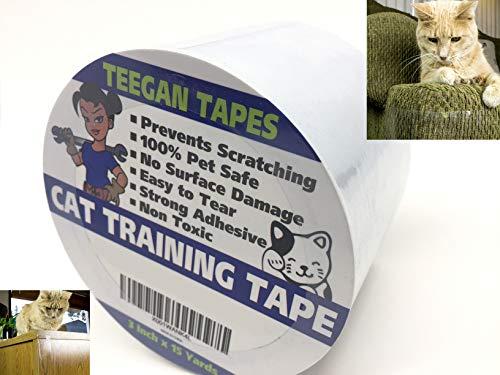 Gaffer Power Katzentraining Tape - verhindert Kratzen - Transparentes doppelseitiges Klebeband - Möbelschutz & Kratzabwehrmittel - klebrig, doppelseitig, für Holzmöbel, Ledersofas & Couches (Couch Pet-abdeckung)
