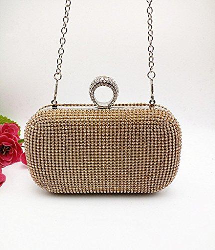 bd54886f17dea BigForest Imitation Perle Strass Designer Damentasche Tasche Clutches  Handtasche Abendtasche Hochzeit tasche Golden Black ...