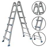 Alter-C-DJ Teleskopleiter Multifunktionsleiter Aluleiter Klappleiter Ausziehleiter Stehleiter Anlegeleiter Klappleiter ausziehbare Leiter (4x6) …