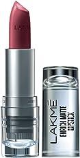 Lakme Enrich Matte Lipstick, Shade WM11, 4.7g