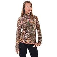 Realtree Damen 1/4Zip Performance Shirt
