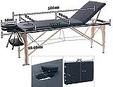 H-ROOT 3 Section Table de Massage Grande Canapé Lit Plinthe de Thérapie Salon Tatouage Reiki Massage Suédois Thérapeutique