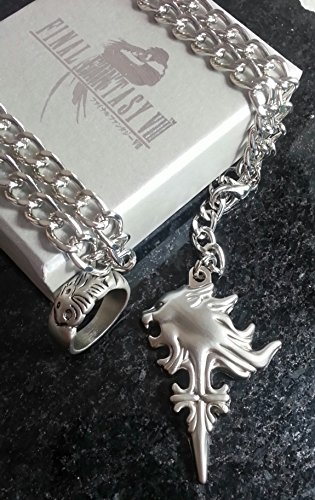 Final Fantasy VIII Squall Halskett Ring Necklace Griever FF8 Kostüm Cosplay XV (Kostüm Cosplay Wakka)
