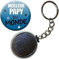 Cadeau MEILLEUR PAPY DU MONDE PAPI PORTE CLÉS CHAÎNETTE 38mm