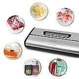 [Aktualisiert] Vakuumierer, Crenova VS100S - Vakuumiergerät für Nahrungsmittel, manuelle Pausenfunktion für brüchige Lebensmittel, +10 gratis Profi-Folienbeutel - 8