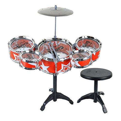 Preisvergleich Produktbild Jazz Drum Set Musikinstrument -Spielzeug Playset (rot)