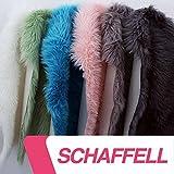 Schaffell Teppich Imitat Kunstfell ca. 55x80 cm versch. Farben mit Ökoteks 100 (weiss)