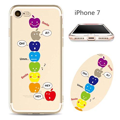 Cover iPhone 6 Plus Custodia telefono creativo trasparente silicone Guscio morbido Anti Graffio Copertura protettiva Anti-polvere paraurti Si applica a iPhone 6/6S Plus(5.5) disegno-23
