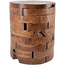 Moycor 163051 - Taburete teka con troncos horizontales