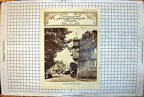Weinlese Druck des Uhr Abinger-Hammer-Surrey-Baum-Efeus James Dixon Scott 1950