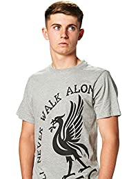 Liverpool FC Autumn-Winter 2017 Cotton/Polyester Grey MARL 'You'll Never Walk Alone' Mens Crew Neck T-Shirt NWT Available Sizes XS,S,M,L,XL,XXL From LFC Official Store