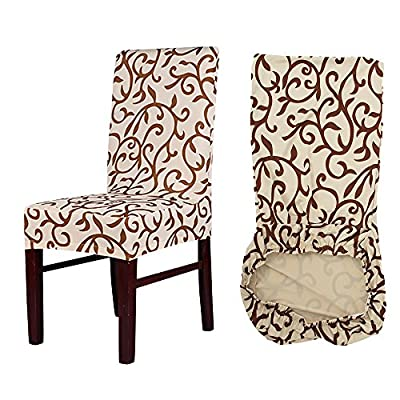 MultiWare Stretch Chair Seat Cover 2/4/6 Pcs Removable Washable Dining Room Stool Chair Slipcovers - inexpensive UK light shop.