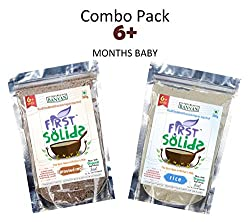 Sprouted Ragi & Rice Porridge Mix Combo Pack - 100% Natural Homemade & Organic Baby Food (6 - 24 months)
