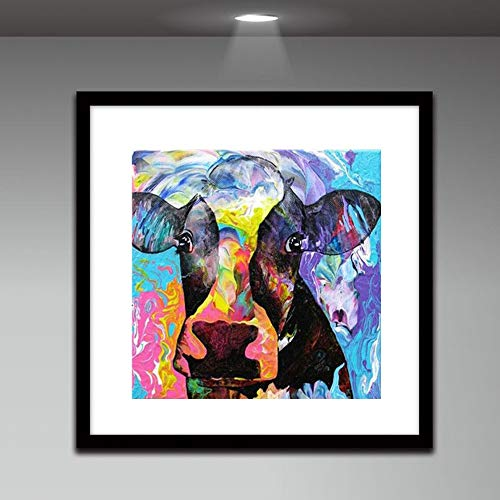 DIY 5D Internet Girl Animal DIY Diamond Painting Embroidery Painting Cross Stitch Diamond Decoration Handmade Adhesive with Digital Sets Cross Stitch Wall Sticker Decoration ()
