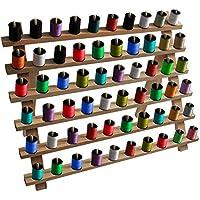Kurtzy Support de Filetage en Bois - Porte-Bobines, Organisateur de Fils, Support Mural de Bobines, Rack Personnalisé Couture Broderie Quilting Accessoires de Couture - 29cm x 40cm