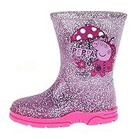 Peppa Pig Girls Pink Wellington Boots Ladybug