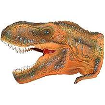 """Grande para 10""""goma juguete marioneta de mano T-Rex Tyrannosaurus Play diseño de dinosaurio jurásico realista Museo detalles en caja"""