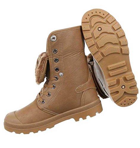 Schwarz Hellbraun Schuhe Damen Stiefeletten Gefütterte Warm Boots XCgwqY