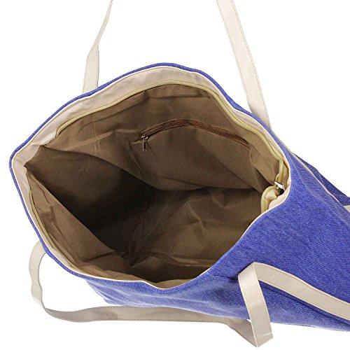 Antonio Damentasche Jeans beige blau