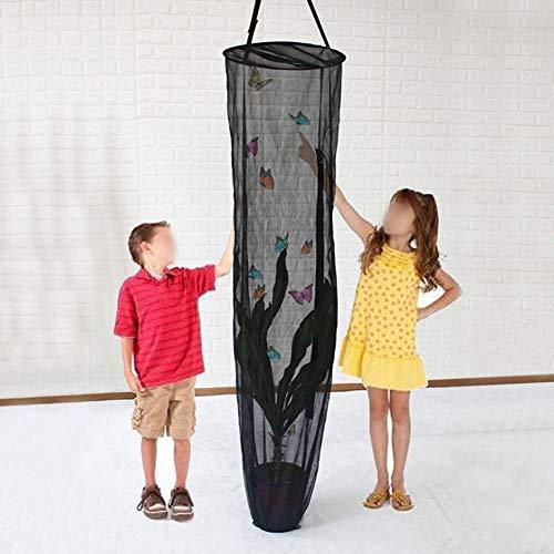 Mumusuki Insect Cage Pieghevole Nero Trasmissione a Sospensione Traspirante Insetto vegetale Mesh Housing Home