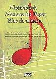 Notenblock: Für eigene Kompositionen und Musikideen -