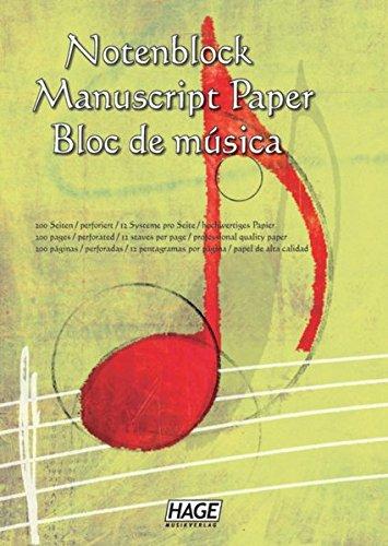 Notenblock: Für eigene Kompositionen und Musikideen - 3700 Papier