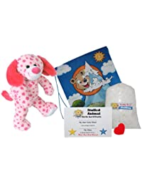 "Make Your Own Stuffed Animal ""Daisy The Pink Dog"" - No Sew - Kit With Cute Backpack!"
